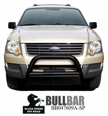 Front End Protection - Bull Bars - Black Horse Off Road - Bull Bar BB047609A-SP - Black with Black Skid Plate | Explorer, Sport Trac, Mountaineer