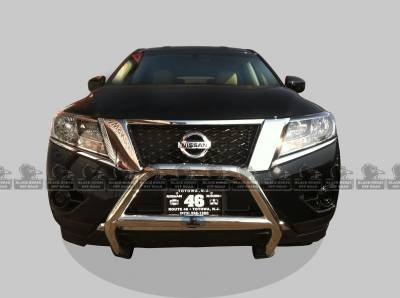 Front End Protection - Bull Bars - Black Horse Off Road - Bull Bar BB110412-SP - Stainless Steel with Stainless Steel Skid Plate Nissan Pathfinder