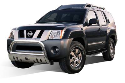Black Horse Off Road - Bull Bar BBNIEX-SP - Stainless Steel with Stainless Steel Skid Plate Nissan Xterra - Image 2