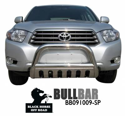 Front End Protection - Bull Bars - Black Horse Off Road - Bull Bar BB091009-SP - Stainless Steel with Stainless Steel Skid Plate |RX330, RX350, RX400h, RX450h, Highlander