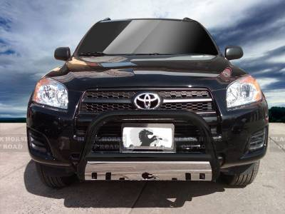 Front End Protection - Bull Bars - Black Horse Off Road - Bull Bar BB093905BS-SP - Black with Stainless Steel Skid Plate | Toyota RAV4