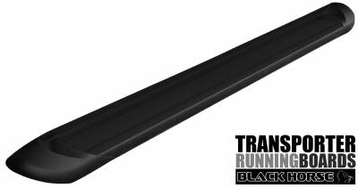 Side Steps & Running Boards - Commercial Running Boards - Black Horse Off Road - TR-D23596 - Transporter Black Running Boards | Full  Sized Van Sprinter