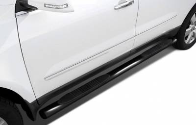 "Side Steps & Running Boards - 4"" Side Steps - Black Horse Off Road - 9B035703AOV2 - 4"" Black Oval Side Steps - Chevrolet Silverado 1500 and GMC Sierra 1500 2007-2017 (Crew Cab)"