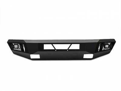 Bumpers - Front Bumper - Black Horse Off Road - AFB-CO15-KIT Black Armour Front HD Bumper with Light Kit | 2015 to 2017 Chevrolet Colorado