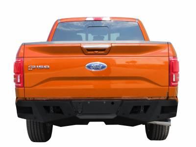 Bumpers - Rear Bumper - Black Horse Off Road - ARB-F115 - Armour Black Rear HD Bumper NO lights | 2015 to 2016 Ford F-150