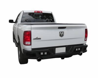Bumpers - Rear Bumper - Black Horse Off Road - ARB-RA13 - Armour Black Rear HD Bumper NO lights | 2013 to 2016 Dodge Ram 1500