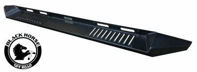 Black Horse Off Road - E | Armour Heavy Duty Steel Running Boards | Black | Crew Cab | AR-GMG379 - Image 3