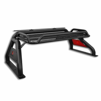 Products - Roll Bars - Black Horse Off Road - Atlas Roll Bar RB-BA1B - Black Fits Chevrolet, GMC, and Toyota