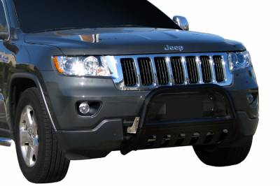 Black Horse Off Road - Bull Bar BB80711A-SP - Black with Black Skid Plate Jeep Grand Cherokee