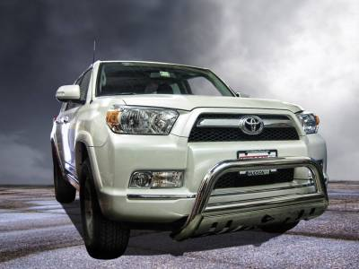 Black Horse Off Road - Bull Bar BB80236-SP - Stainless Steel with Stainless Steel Skid Plate Toyota 4Runner - Image 3