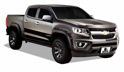 Products - Fender Flares - Black Horse Off Road - Pocket Style Fender Flares FF-CHCO-SM-PKT - Black Chevrolet Colorado Crew Cab