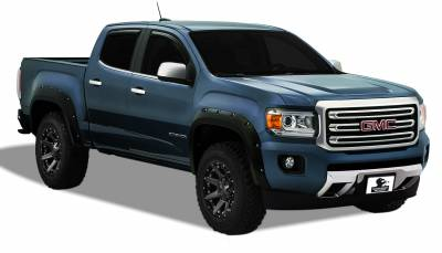 Products - Fender Flares - Black Horse Off Road - Pocket Style Fender Flares FF-GMCA-SM-PKT - Black GMC Canyon Crew Cab Long Bed
