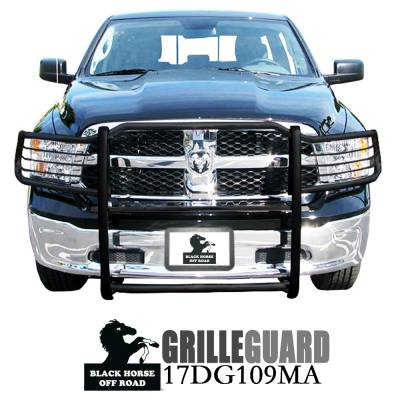 Front End Protection - Grille Guards - Black Horse Off Road - Grille Guard 17DG109MA - Black Dodge Ram 1500