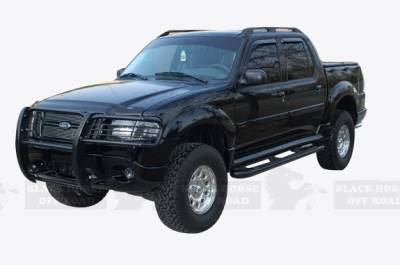 Front End Protection - Grille Guards - Black Horse Off Road - Grille Guard 17F80218MA - Black |  Explorer & Mariner