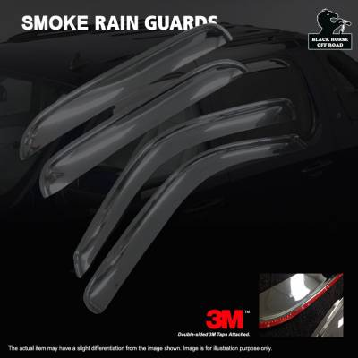 Black Horse Off Road - O | Rain Guards | Color: Smoke | In Channel | 140431-IN - Image 2