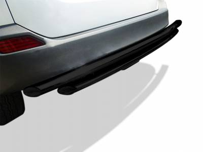 Rear End Protection - Double Layer Rear Bumper Guards - Black Horse Off Road - Double Layer Rear Bumper Guard CRDL-TOT301BL  - Black | Lexus RX350 2016 to 2017