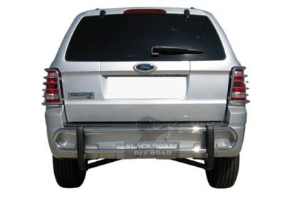 Rear End Protection - Double Tube Rear Bumper Guards - Black Horse Off Road - Double Tube Rear Bumper Guard 8D048816SS - Stainless Steel | Escape & Tribute