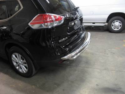 Rear End Protection - Double Layer Rear Bumper Guards - Black Horse Off Road - Double Layer Rear Bumper Guard 8D116703SS-DL - Stainless Steel Nissan Rogue