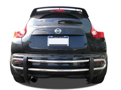 Rear End Protection - Double Tube Rear Bumper Guards - Black Horse Off Road - Double Tube Rear Bumper Guard 8NIJUSS - Stainless Steel Nissan Juke