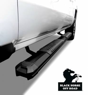 Black Horse Off Road - Cutlass Running Boards RN-TOTU-91-BK - Black Toyota Tundra CrewMax