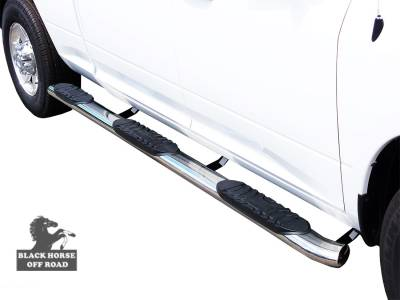 Side Steps & Running Boards - Extreme Wheel-to-Wheel Side Steps - Black Horse Off Road - Extreme Wheel-to-Wheel Side Steps 9B35705SSWTW-5BN - Stainless Steel | Silverado 1500 & Sierra 1500