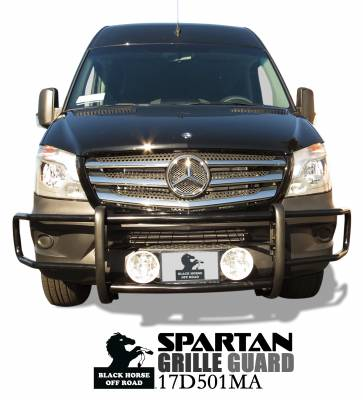 Front End Protection - Spartan Grille Guards - Black Horse Off Road - Spartan Grille Guard 17D501MA - Black for Sprinter
