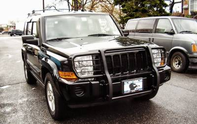 Front End Protection - Grille Guards - Black Horse Off Road - Grille Guard 17A081000MA - Black Jeep Commander