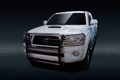 Front End Protection - Grille Guards - Black Horse Off Road - Grille Guard 17A096400MSS - Stainless Steel Toyota Tacoma