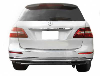 Rear End Protection - Double Layer Rear Bumper Guards - Black Horse Off Road - Double Layer Rear Bumper Guard 8B021SS-DL - Stainless Steel Mercedes-Benz GL Class