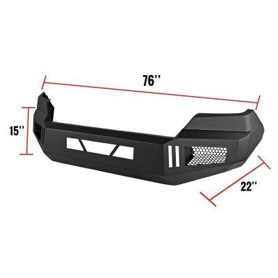 Black Horse Off Road - Black Horse Armour Front Bumper Black AFB-TU14 for 14-19 Toyota Tundra - Image 4