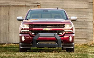 Front End Protection - Bull Bars - Black Horse Off Road - A | Armour Bull Bar | Satin Black | AB-GM25 | With 20in LED Light Bar