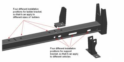 Black Horse Off Road - M | Ladder Rack | Black - Image 6