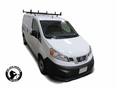 Products - Roof Racks and Cargo - Black Horse Off Road - Traveler Commercial Roof Rack for Transit, Transit Connect, Chevy City Express, Metris, Nissan NV200/1500/2500/3500, Ram Promaster