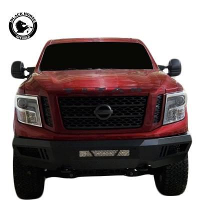 Bumpers - Front Bumper - Black Horse Off Road - B | Armour Front Bumper | Black