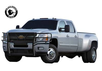 Products - Black Horse Off Road - Black Modular Rugged Grille Guard For 11-14 Chevy Silverado 2500/3500