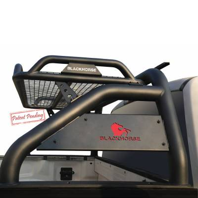 Products - Roll Bars - Black Horse Off Road - J | Atlas Roll Bar | Black |   ATRB-GMCOB