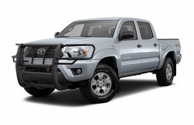 Products - Black Horse Off Road - Black Modular Rugged Grille Guard For 05-15 Toyota Tacoma