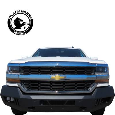 Black Horse Off Road - B | Armour Front Bumper | Black | AFB-SI16 - Image 1