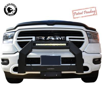 Products - Front End Protection - Black Horse Off Road - 2019 Dodge Ram 1500 Armour Bull bar