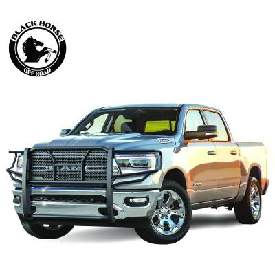 Products - Black Horse Off Road - Rugged Grille Guard 2019 Ram 1500