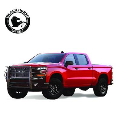 Products - Black Horse Off Road - Rugged Grille Guard 2019 Chevrolet Silverado 1500