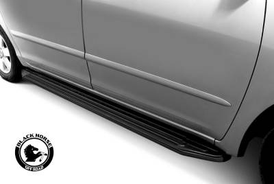 Black Horse Off Road - 17-19 TOYOTA SIENNA   Excluding XLE  (Plastic Cover Under Floor Panel Must be Cut) PEERLESS RUNNING BOARDS - Image 8