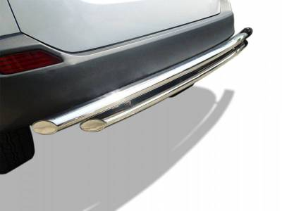 Rear End Protection - Double Layer Rear Bumper Guards - Black Horse Off Road - 09-14 Nissan Murano Stainless Double layer Rear Bumper Guard