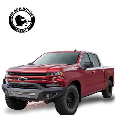 Black Horse Off Road - B | Armour Front Bumper | Black - Image 4