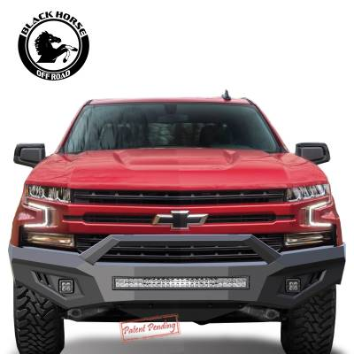 Black Horse Off Road - B | Armour Front Bumper | Black - Image 5