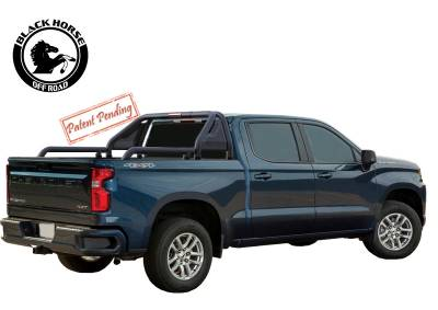 Products - Roll Bars - Black Horse Off Road - GLRB-03B - GLADIATOR BLACK MODULAR UNIVERSAL ROLL BAR FOR TOYOTA TACOMA -CHEVY COLORADO- GMC CANYON