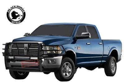 Products - Front End Protection - Black Horse Off Road - Black Modular Rugged Grille Guard For 10-18 Dodge Ram 2500/3500