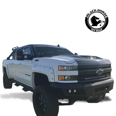Black Horse Off Road - B | Armour Front Bumper | Black | AFB-SI25-15 - Image 3