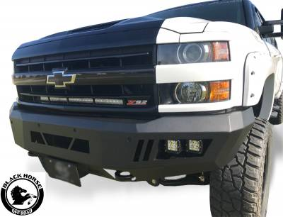 Black Horse Off Road - B | Armour Front Bumper | Black | AFB-SI25-15 - Image 4