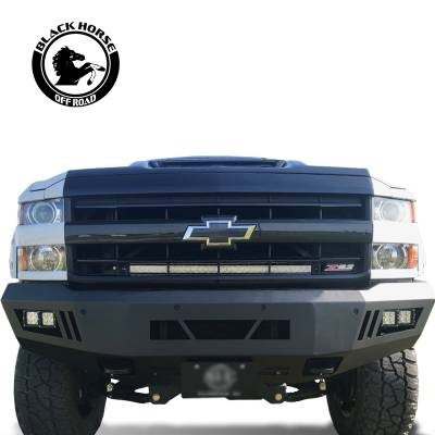 Black Horse Off Road - B | Armour Front Bumper | Black | AFB-SI25-15 - Image 2